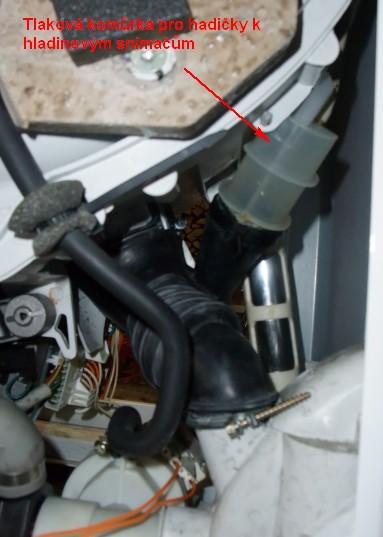 Hladinový senzor pračky - tlaková komora